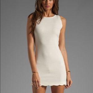 SALE For Love and Lemons Scalloped Mini Dress